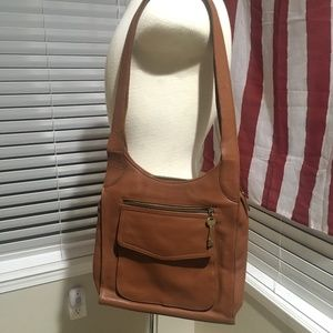Fossil Brown Leather Purse Vintage style 75082